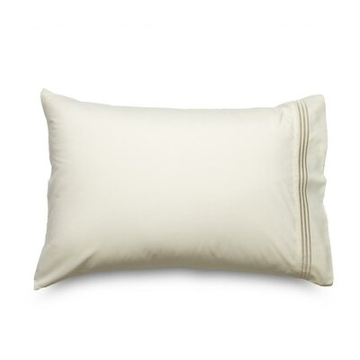 Queen Double Brushed Ultra Microfiber Pillowcase Color: Cream