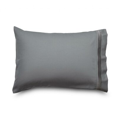 Queen Double Brushed Ultra Microfiber Pillowcase Color: Gray