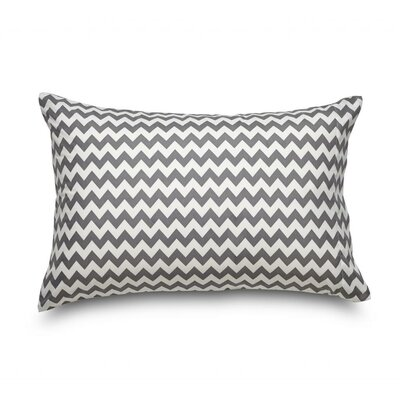 Queen Chevron Double Brushed Ultra Microfiber Pillowcase Color: Gray