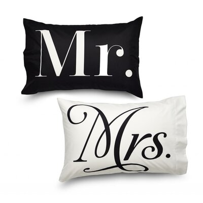 Queen Mr and Mrs Ultra Microfiber Pillowcase