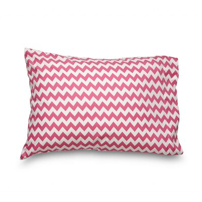 Queen Chevron Double Brushed Ultra Microfiber Pillowcase Color: Pink