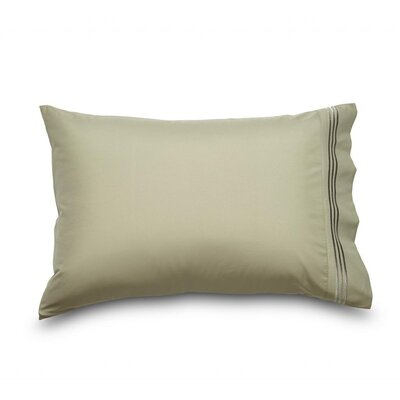 Ziv Queen Double Brushed Ultra Microfiber Pillowcase Color: Sage