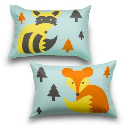 Woodland Creatures 2 Piece Ultra Microfiber Pillowcase Set