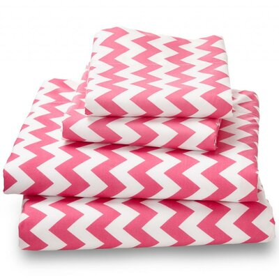 Luxury Ultra Bed Microfiber Sheet Set Size: Queen, Color: Pink