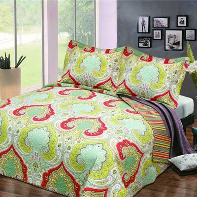 Kenlee 3 Piece Quilt Set Size: King