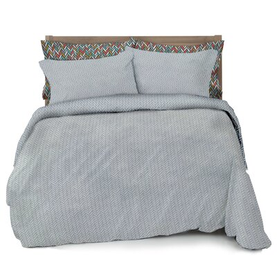Herringbone Duvet Cover Set Size: Full / Queen