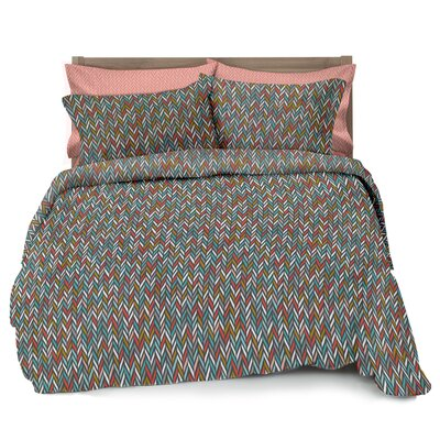 Herringbone 3 Piece Full/Double Comforter Set