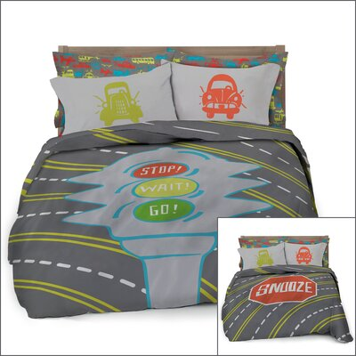 Transportation 3 Piece Full/Double Comforter Set