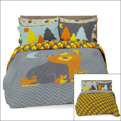 Woodland Creatures 3 Piece Reversible Full/Double Comforter Set