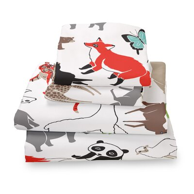 Animal Extra Deep Pocket Sheet Set Size: Queen