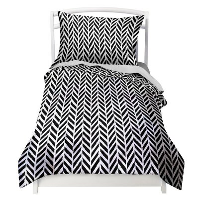 Herringbone Duvet Cover Set Size: Twin