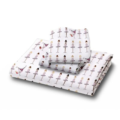 Ballerina Brake Dancer Duvet Cover Set Size: Full / Queen