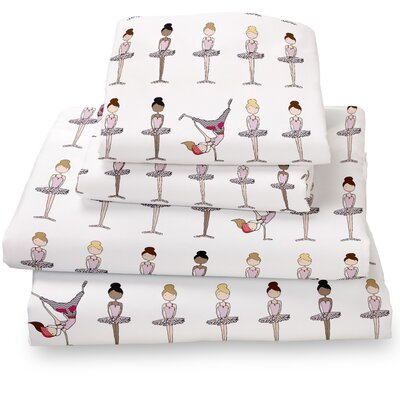 Ballerina / Brake Dancer Extra Deep Pocket Sheet Set Size: Twin