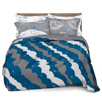 Rocket Ship Duvet Cover Set Size: Full / Queen
