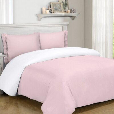 Mariella Duvet Set Size: Twin, Color: Pink