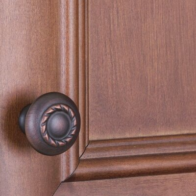 Rope Cabinet Mushroom Knob Finish: Oil Rubbed Bronze