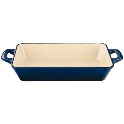 "La Cuisine 15.7"" Deep Cast Iron Roasting Pan - Color: Blue at Sears.com"