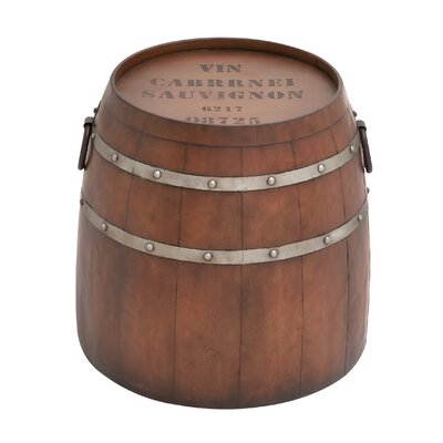 Metal Barrel End Table
