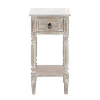 End Table Color: Brown with White Wash