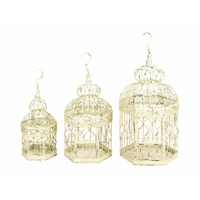 3 Piece Bird Cage Set