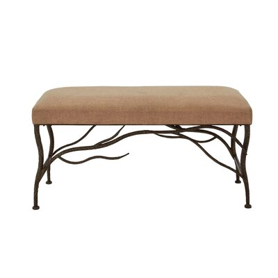 Metal/Wood and Upholstered Bedroom Bench