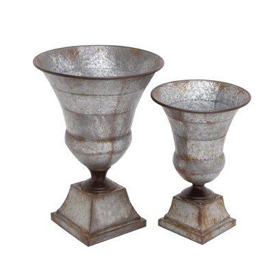 2 Piece Metal Urn Set