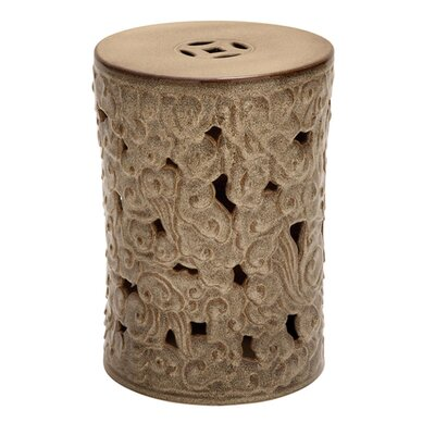 Ceramic Scroll Garden Stool