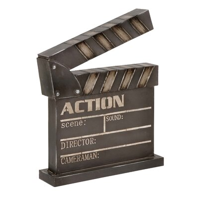 Metal Clapper Board Wall Décor