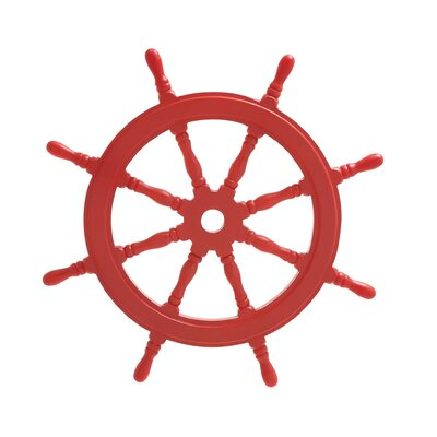 Wood Ship Wheel Wall Décor Color: Fire Engine Red