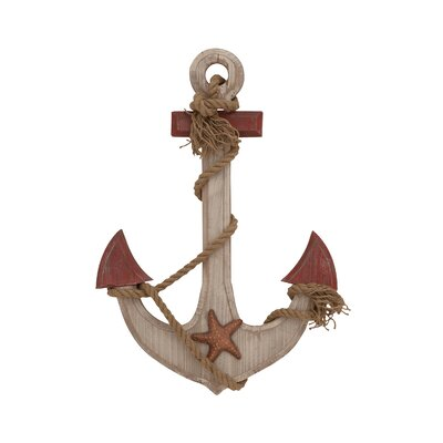 Wood Rope Anchor Wall Décor