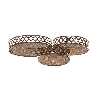 3 Piece Aluminum Tray Set