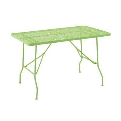 Metal Fold Outdoor Bar Table Table Size: 48 L x 28 W, Finish: Spring Green