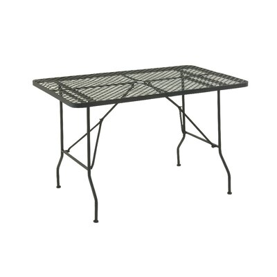 Folding Metal Camping Table Finish: Black, Table Size: 48 L x 28 W