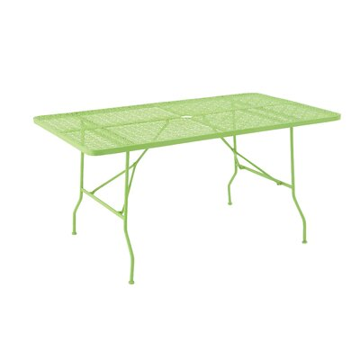 Metal Fold Outdoor Bar Table Finish: Spring Green, Table Size: 60 L x 36 W