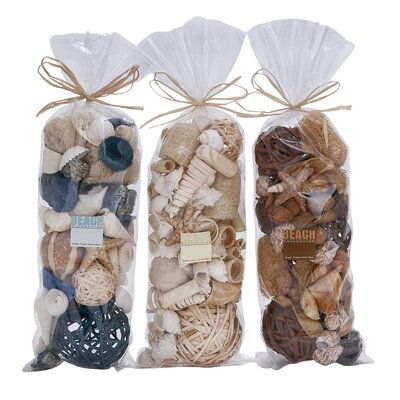 3 Piece Decorative Dried Bag Set