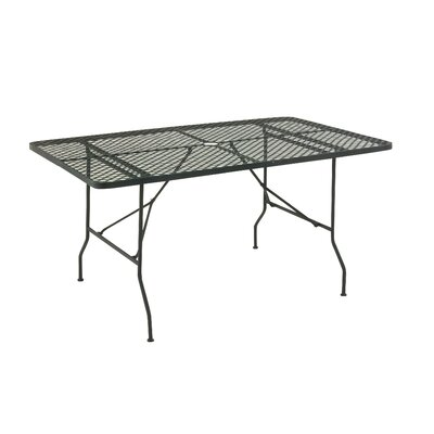 Metal Fold Outdoor Bar Table Finish: Black, Table Size: 60 L x 36 W
