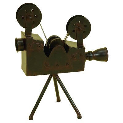 Metal Antique Camera Sculpture