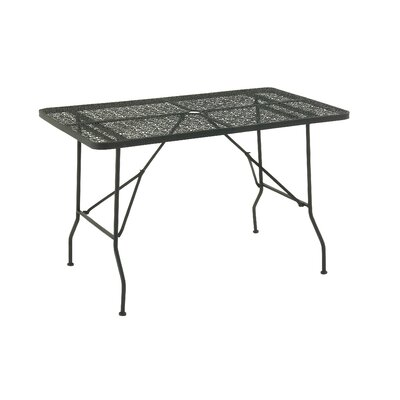 Metal Fold Outdoor Bar Table Finish: Black, Table Size: 48 L x 28 W