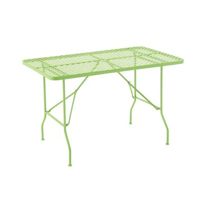 Folding Metal Camping Table Table Size: 60 L x 36 W, Finish: Spring Green