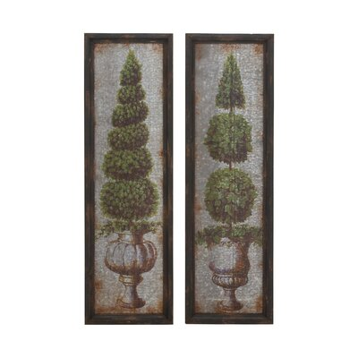 2 Piece Metal Wall Decor Set