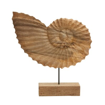 Wood Metal Shell Statue