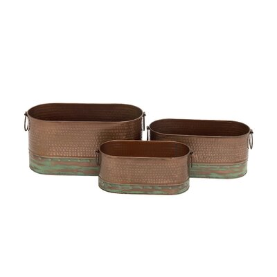 3-Piece Iron Pot Planter Set