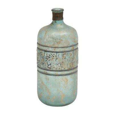 Ceramic Embossed Vase Size: 12 H x 5 W x 5 D