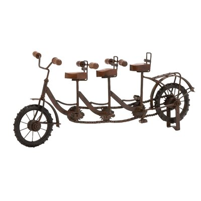 Metal Wood 3 Seat Bicycle