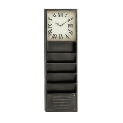 Metal Wall Storage Clock