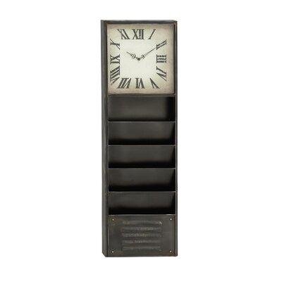 Metal Wall Storage Clock