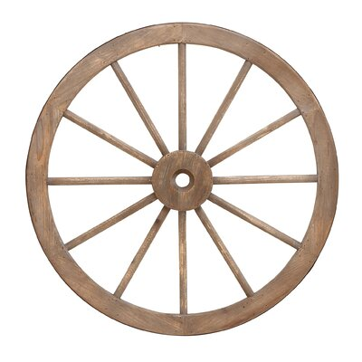 Wood Wagon Wheel Wall Decor