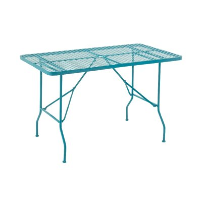Folding Metal Camping Table Table Size: 60 L x 36 W, Finish: Turquoise