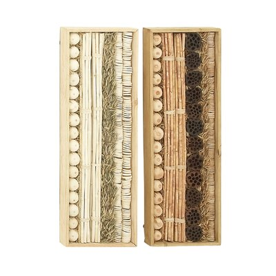 2 Piece Wood Dried Wall Décor Set