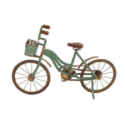 Decorative Metal and Wood Beads Bicycle